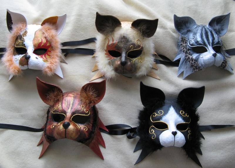 five_carnival_cat_masks__by_xothique